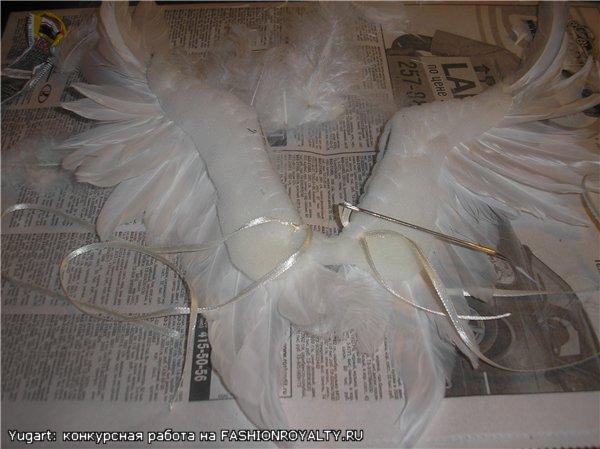 Как сделать крылья ангела своими руками видео