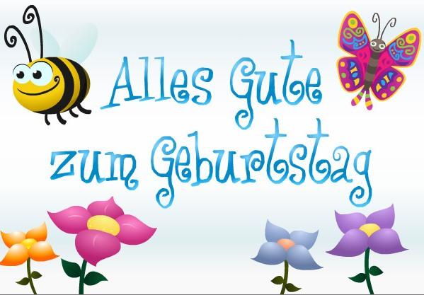 Открытки на немецком к дню рождения, открытки